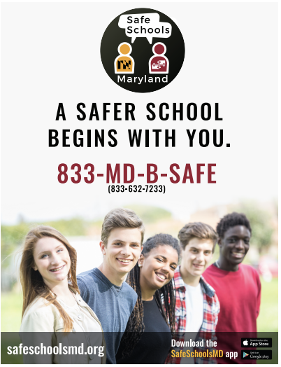 "Screen shot of the  ""A Safer School Begins with You"" 8x10 inch poster"